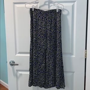 Zara Floral Maxi Skirt Split Front Medium